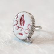 Ring »Rote Spitze«, Porzellan